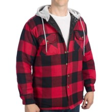 Canyon Guide Big Bear Shirt - Flannel, Quilted Lining, Long Sleeve (For Men) in Red/Black - Closeouts