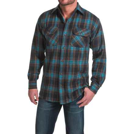 Canyon Guide Brawny Flannel Shirt - Long Sleeve (For Tall Men) in Blue/Brown Plaid - Closeouts