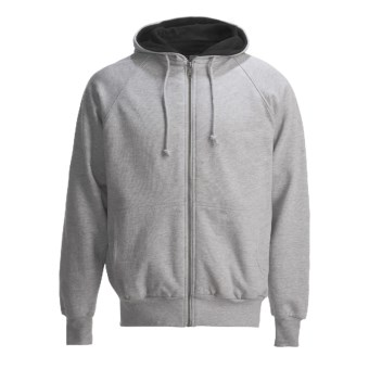Canyon Guide Hoodie Sweatshirt - Thermal-Lined (For Men) in Heather Grey