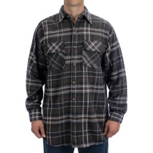 Canyon Guide Juneau Brawny Plaid Shirt - Flannel, Long Sleeve (For Men) in Charcoal - Closeouts
