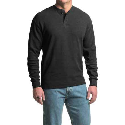 Canyon Guide Outfitters Hartley Micro-Thermal Henley Shirt - Long Sleeve (For Men) in Black - Closeouts