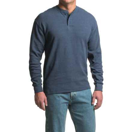 Canyon Guide Outfitters Hartley Micro-Thermal Henley Shirt - Long Sleeve (For Men) in Blue - Closeouts