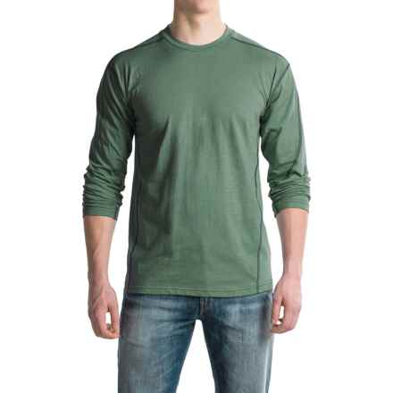 Canyon Guide Outfitters Ike Quick-Dry T-Shirt - Cotton Blend, Long Sleeve (For Men) in Green Heather - Closeouts