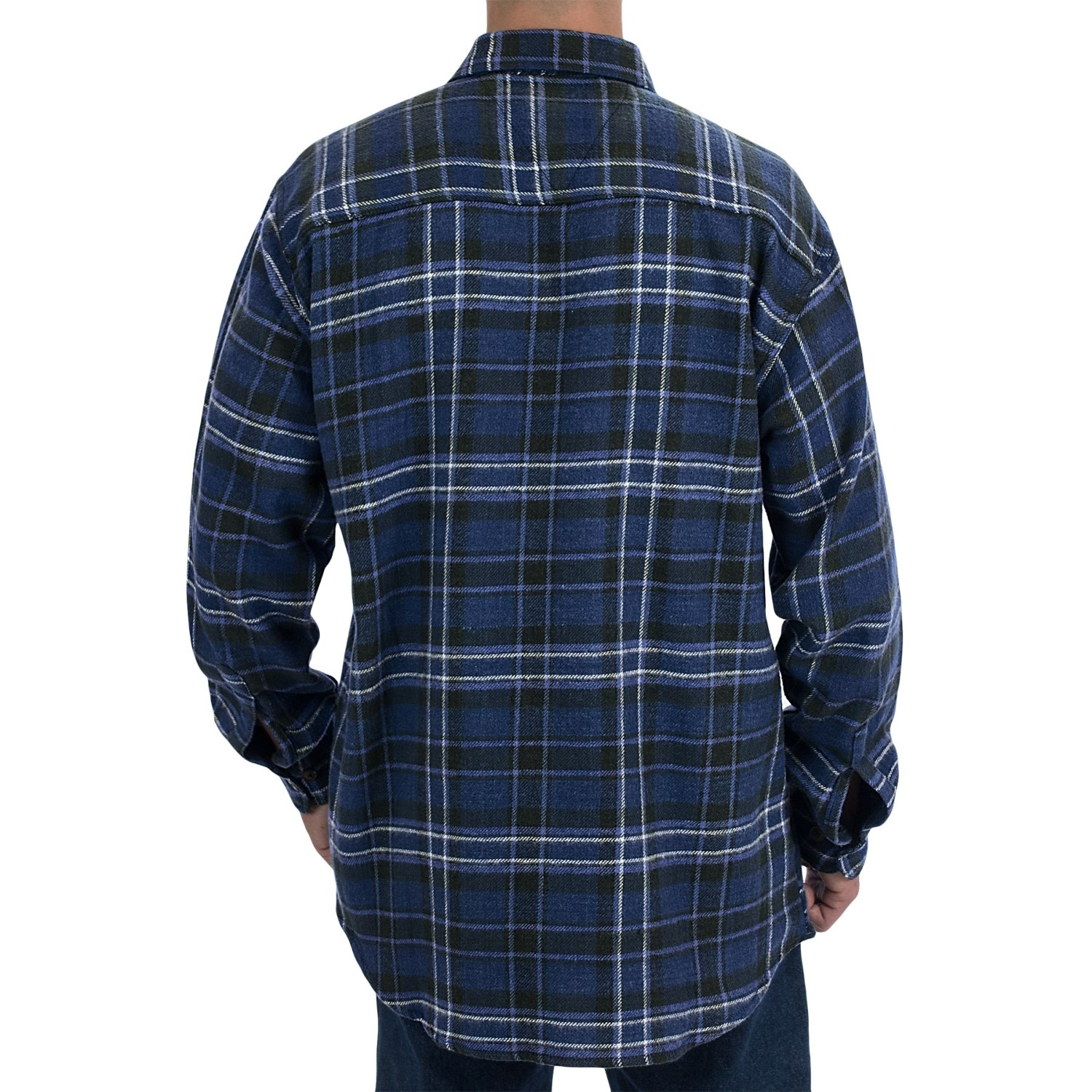 Canyon guide outfitters juneau brawny plaid shirt for men for Long plaid flannel shirt