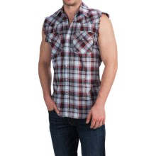 Canyon Guide Outfitters Kick Back Shirt - Snap Front, Sleeveless (For Men) in Red - Closeouts