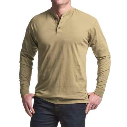 Canyon Guide Outfitters Pigment-Dyed Henley Shirt - Long Sleeve (For Men) in Safari - Closeouts
