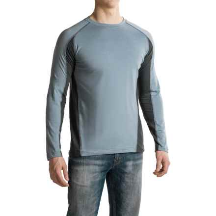 Canyon Guide Outfitters Trent Quick-Dry T-Shirt - Cotton Blend, Long Sleeve (For Men) in Blue/Charcoal - Closeouts