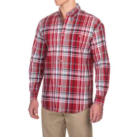 Canyon Guide Outfitters Yardley Plaid Shirt - Long Sleeve (For Men) in Red/Charcoal - Closeouts