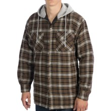 Canyon Guide Providence Flannel Shirt - Hooded, Long Sleeve (For Men) in Brown - Closeouts