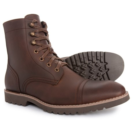 Image of Cap-Toe Boots - Leather (For Men)