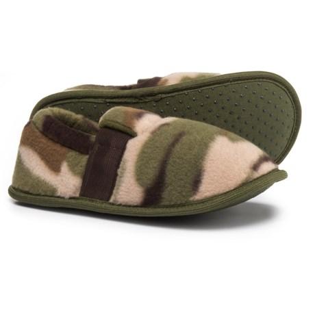 CAP3 Camo Fleece Slippers (For Boys)