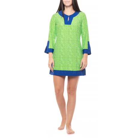 Image of Cape Town Cabana Tunic Swimsuit Cover-Up Dress - UPF 50+, Long Sleeve (For Women)