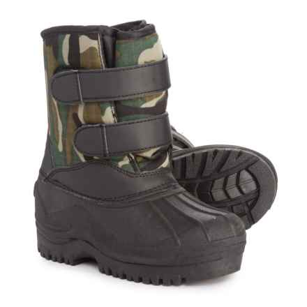 Capelli Camo Double Strap Pac Boots (For Toddler Boys) in Green Combo/Black - Closeouts