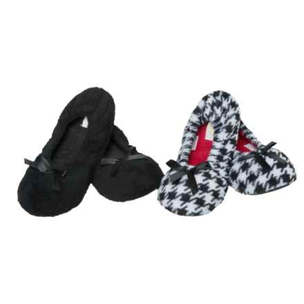 Capelli Cozy Ballet Slippers - 2-Pack (For Women) in Black Combo - Closeouts
