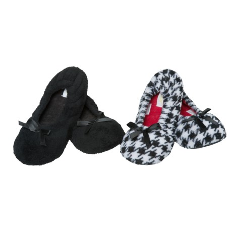 Capelli Cozy Ballet Slippers - 2-Pack (For Women) in Black Combo