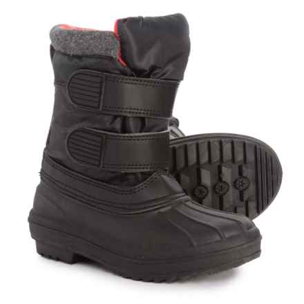 Capelli Double Strap Pac Boots (For Little and Big Boys) in Black - Closeouts