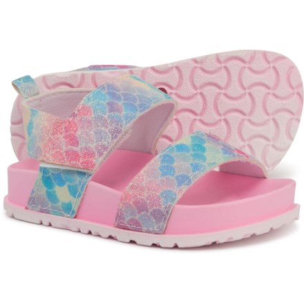 da53ad7dbbb1 Capelli Mermaid Scale Sandals (For Girls) in Pink