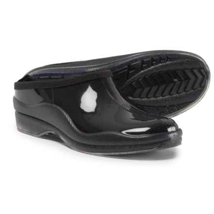 Capelli Shiny Solid Rain Clogs - Slip-Ons (For Women) in Black - Closeouts