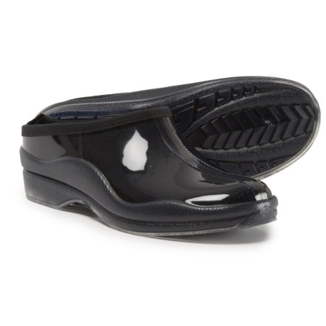 Capelli Shiny Solid Rain Clogs - Slip-Ons (For Women) in Black