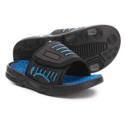Capelli Slide Sandals (For Boys) in Blue Combo - Closeouts