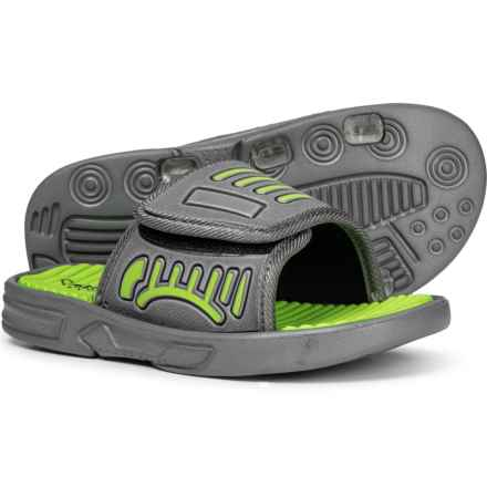 Capelli Slide Sandals (For Boys) in Green Combo