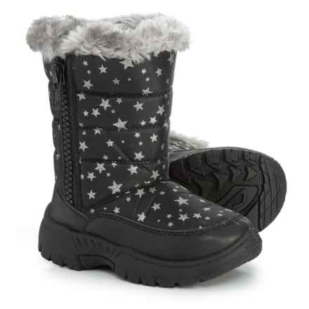Capelli Star Print Winter Boots (For Toddler Girls) in Black Combo - Closeouts