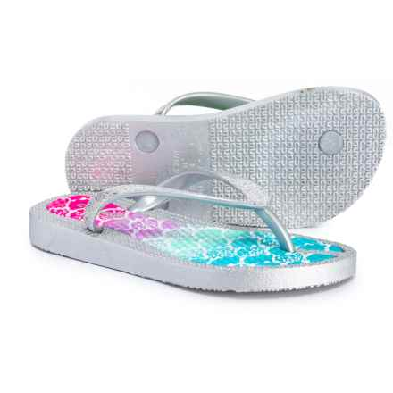 4109bc563 Capelli Unicorn and Narwhal Print Flip-Flops (For Girls) in Pink - Closeouts