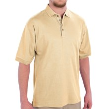 Capital Apparel Cotton Polo Shirt - Short Sleeve (For Men) in Butter - Closeouts