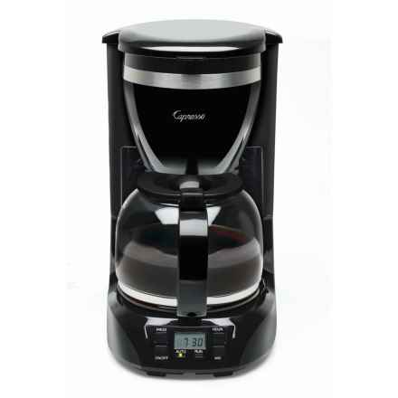 Capresso 12-Cup Drip Coffee Maker in Stainless / Black - Overstock