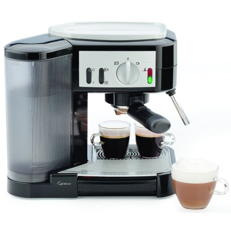 Capresso Cafe Pump Espresso Machine in Black/Stainless