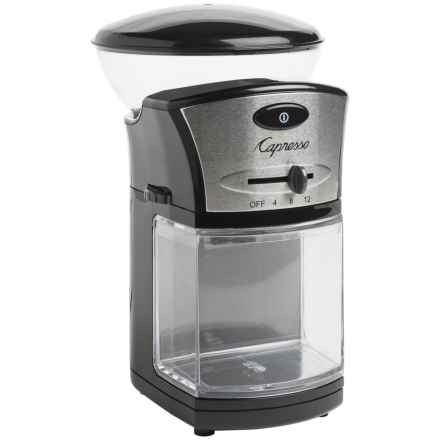 Capresso Disk Burr Coffee Grinder in Black/Stainless Steel - 2nds