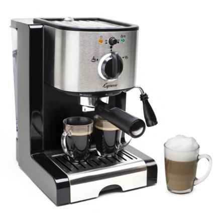 Capresso EC100 Pump Espresso and Cappuccino Machine in Black/Stainless - 2nds