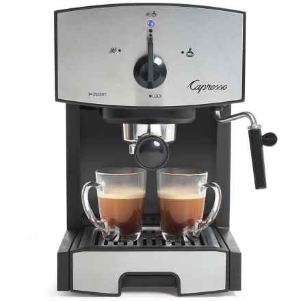 Capresso EC50 Espresso Machine - Refurbished in Stainless Steel - Closeouts