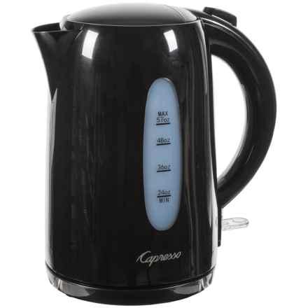 Capresso Electric Water Kettle - 57 fl.oz., BPA-Free in Black - Closeouts