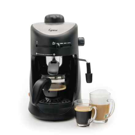 Capresso Espresso and Cappuccino Machine - 4-Cup in Black - Closeouts