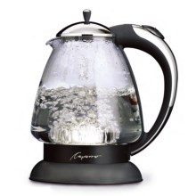 Capresso H20 Plus Glass Water Kettle in Chrome/Black - 2nds