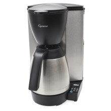 Capresso MT600 Plus Drip Coffee Maker - 10 Cup, Thermal Carafe, Charcoal Water Filter in Black/Stainless - 2nds