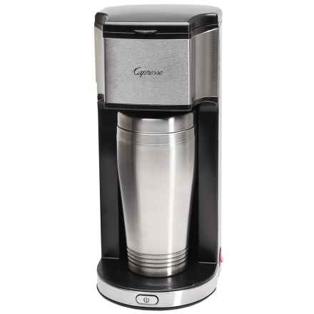 Capresso On-the-Go Personal Coffee Maker in Stainless Steel - Closeouts