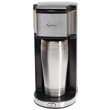 Capresso On-the-Go Personal Coffee Maker in Stainless Steel