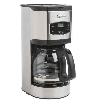 Capresso SG120 12-Cup Coffee Maker in Black/Stainless Steel - Closeouts