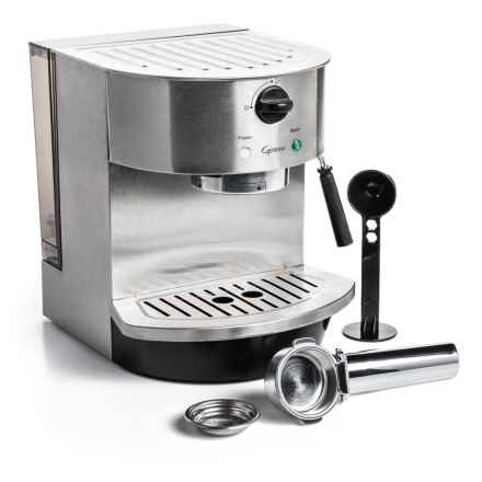 Capresso Stainless Steel Pump Espresso and Cappuccino Machine in Stainless Steel - Closeouts