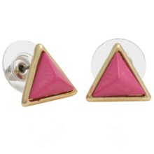 Cara Pyramid Earrings in Pink - Closeouts