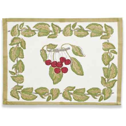 Caravan Cotton Placemats - Set of 4 in Cherry - Closeouts