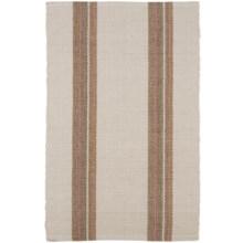 Caravan Striped Cotton Dhurrie Kitchen Rug - 2x3' in Palmer - Closeouts