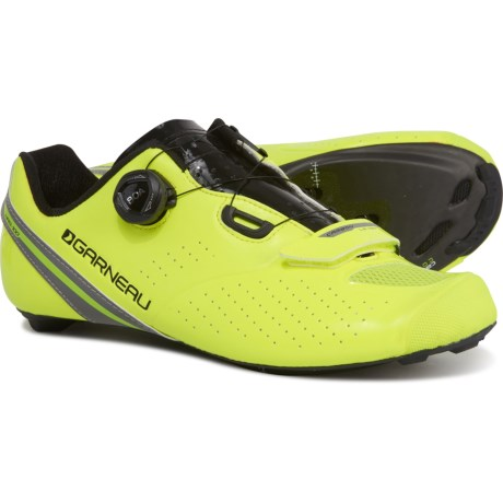 Carbon LS-100 II Cycling Shoes - BOA(R), 3-Hole (For Men) - YELLOW/BLACK (38 )