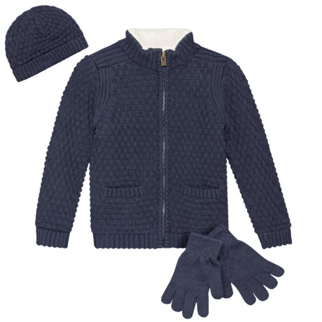 Image of Cardigan Sweater, Hat and Gloves Set - 3-Piece, Full Zip (For Little Boys)