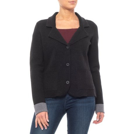 Image of Cardigan Sweater with Collar (For Women)