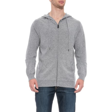 Image of Cardigan Sweater with Textured Shoulders - Full Zip, Long Sleeve (For Men)