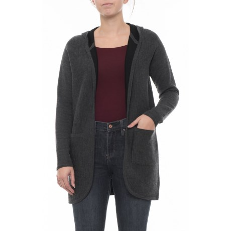 Image of Cardigan with Patch Pockets - Merino Wool, Long Sleeve (For Women)