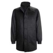 Cardinal of Canada Carter Coat - Wool-Cashmere (For Men) in Black - Closeouts